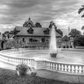 Italian Fountain Maymont B And W by Karen Jorstad