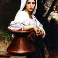 Italian Girl Drawing Water 1871 by William Bougeureau