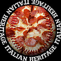 Italian Heritage Baseball Pizza Square by Andee Design