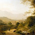 Italian Landscape by Joseph William Allen