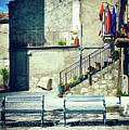 Italian Square With Benches by Silvia Ganora