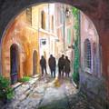 Italian Street Scene by Barbara Couse Wilson