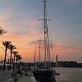 Italian Sunset And Sailboat by Italian Art
