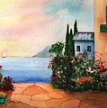 Italian Sunset Villa By The Sea by Sharon Mick