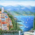 Italian Village By The Sea by Marilyn Dunlap