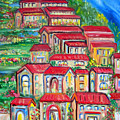 Italian Village On A Hill by Patricia Taylor