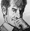 Italo Calvino Drawing  by Paul Sutcliffe