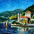 Italy - Lake Como - Villa Balbianello by Leonid Afremov