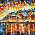Italy Harbor by Leonid Afremov