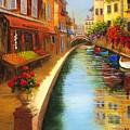 Italys Canal Street  by Jeanene Stein