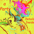 It's A Party Abstract by Kay Brewer