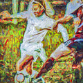 Iupui University Jaguars Soccer Athlete Kdemo Painted by David Haskett II