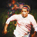 Iupui University Jaguars Soccer Athlete Ma Painted by David Haskett II