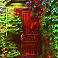 Ivy Surrounded Old Outhouse by Georgiana Romanovna