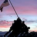 Iwo Jima Memorial In Arlington Virginia by Brendan Reals