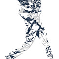 J D Martinez Detroit Tigers Pixel Art 3 by Joe Hamilton