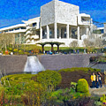 J. Paul Getty Museum Central Garden Panorama by David Zanzinger