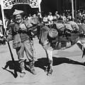 Jack Hendrickson With Pet Burro Number 3 Helldorado Days Parade Tombstone Arizona 1980 by David Lee Guss