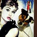 Jack Russell Terrier Art Canvas Print - Breakfast At Tiffany Movie Poster by Sandra Sij
