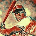 Jackie Robinson Baseball Player by Pd