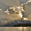 Jackson Lake Sunset View by Dan Sproul
