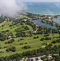 Jackson Park Golf Course In Chicago Aerial Photo by David Oppenheimer