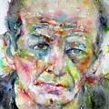 Jackson Pollock - Watercolor Portrait.3 by Fabrizio Cassetta