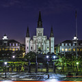 Jackson Square And St. Louis Cathedral At Dawn, New Orleans, Louisiana by Chris Coffee