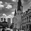 Jackson Square In Black And White by Greg Mimbs