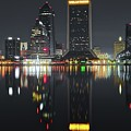 Jacksonville Black Night Lights by Skyline Photos of America