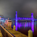 Jacksonville Night River View by Paul Quinn