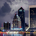 Jacksonville On A Stormy Evening by Jeff Turpin