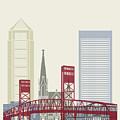 Jacksonville Skyline Poster by Pablo Romero