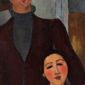 Jacques And Berthe Lipchitz by Armedeo Modigliani