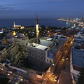 Jaffa At Night Aerial View by Dragonfly