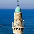 Jaffa, The Turret Of The El Baher Mosque by Ilan Rosen