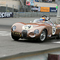 Jaguar C-type At Monaco by Steve Natale