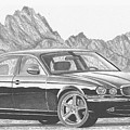 Jaguar Xj-r Sports Car Art Print by Stephen Rooks