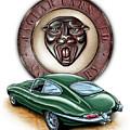 Jaguar Xke British Racing Green by David Kyte