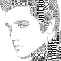 Jailhouse Rock Elvis Wordart by Alice Gipson