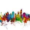 Jakarta Skyline Indonesia by Michael Tompsett