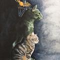 Jake And The Ancestors-pet Portrait by Pauline Sharp