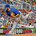 Jake Arrieta Chicago Cubs Pitcher by Marvin Blaine