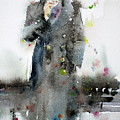 James Dean - Watercolor Portrait.3 by Fabrizio Cassetta