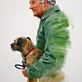 James Herriot And Bodie by Cliff Spohn