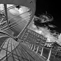 James Joyce Bridge 2 Bw by Alex Art and Photo