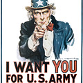 I Want You For U.s. Army by Define Studio
