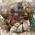 James Rodriguez Performs An Overhead Kick  by Don Kuing