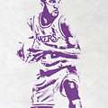 James Worthy Los Angeles Lakers Pixel Art by Joe Hamilton