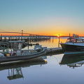 Jamestown Newport Ferry At Conanicut Marina by Juergen Roth